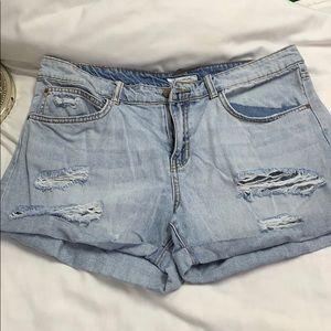 Billabong Distressed Jean Shorts